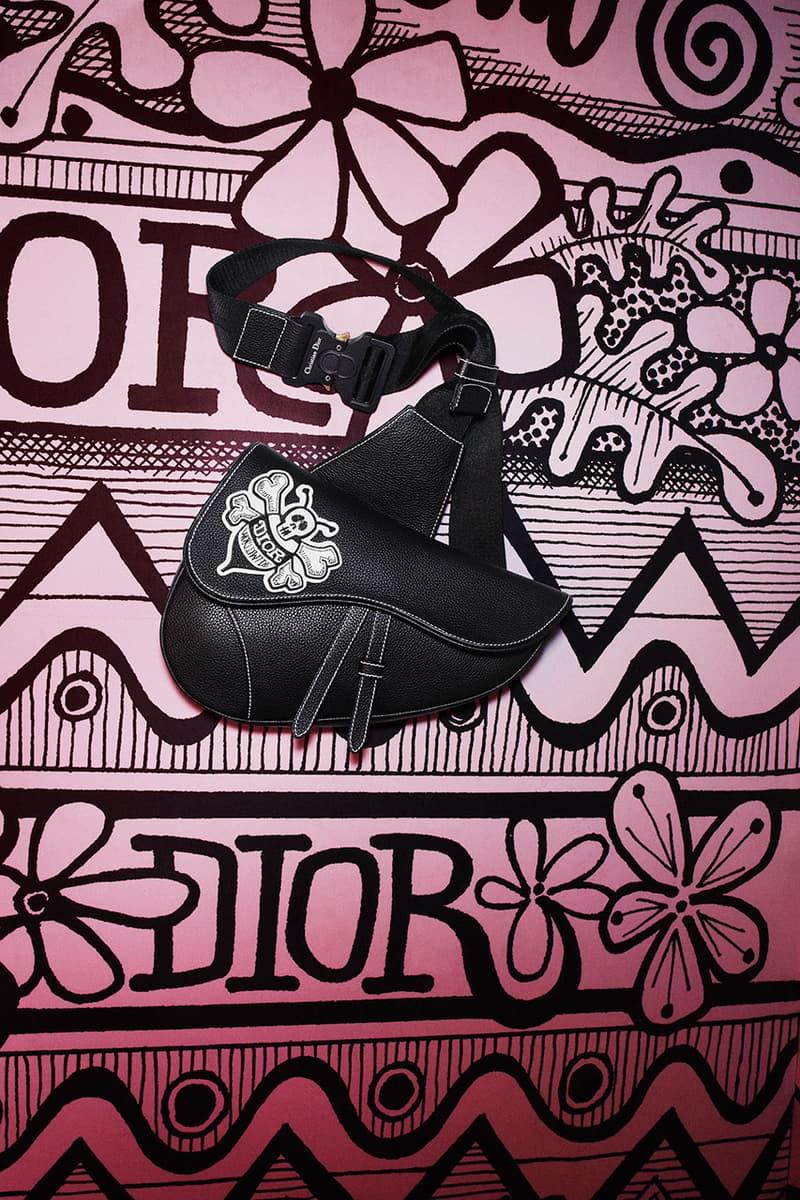 Dior Pre-Fall 2020 Men's Collection, Shawn Stussy artwork fw20 menswear lookbook editorial graphic b23 sneakers saddle bag jewelry yoon ahn kim jones