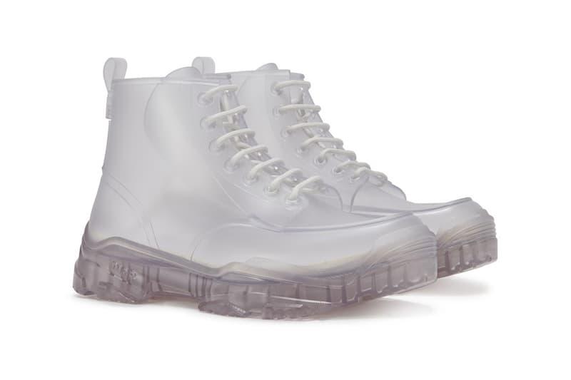 dior mens transparent high top rubber boots spring summer 2020 ss20 rubber daniel arsham inspired art sculpture sculptural shoes footwear