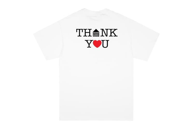Dover Street Market NOAH Thank You Core Logo T-Shirt Coronavirus Aid New York Ginza London Singapore