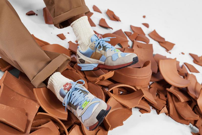end clothing adidas originals consortium zx 9000 kiln pale blue sky grey terracotta vase clay pottery release information buy cop purchase