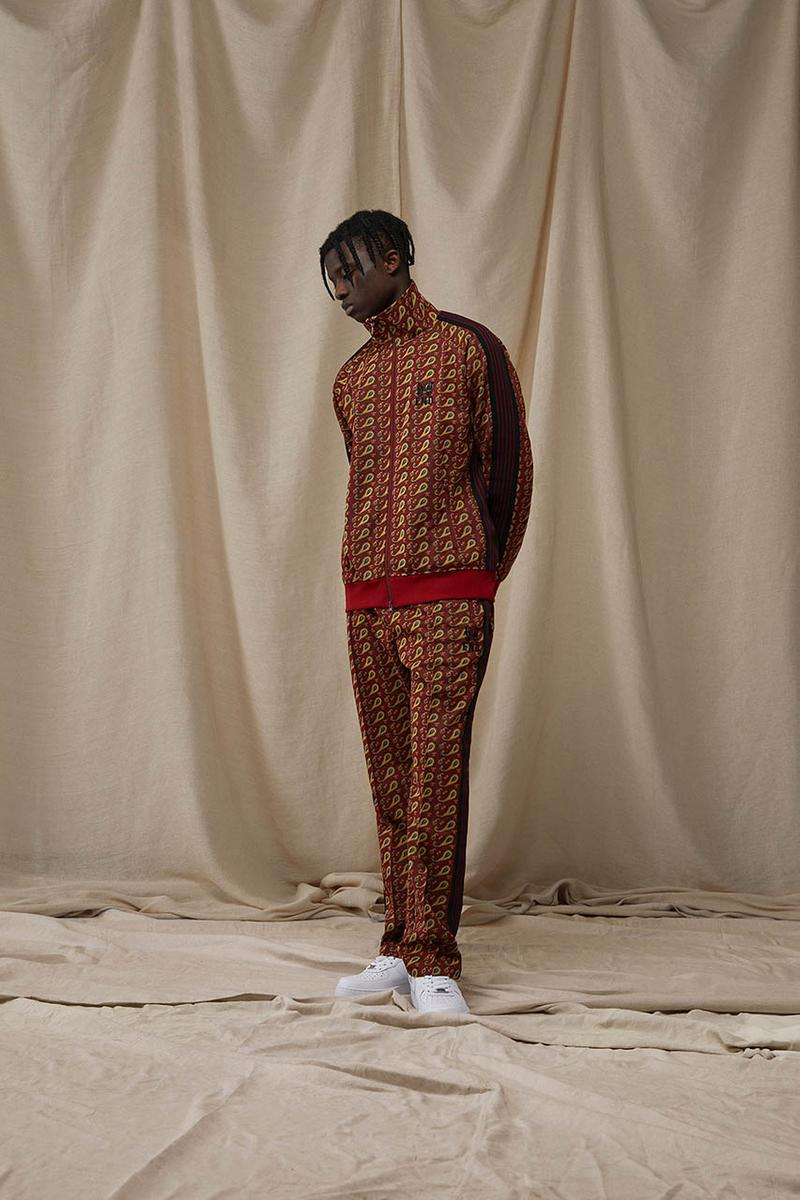 needles end clothing 15th anniversary tracksuits collection paisley black details buy cop purchase release information