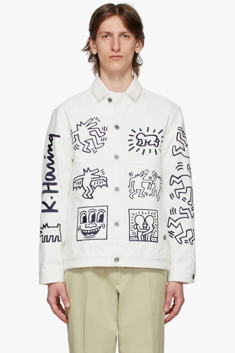 etudes Black Keith Haring Edition Klein Hoodie White Keith Haring Edition Wonder T Shirt denim Guest Jacket