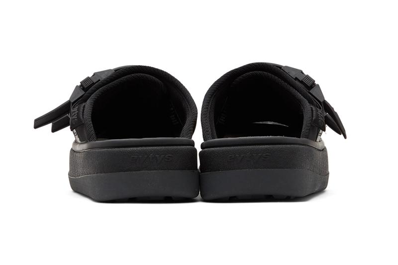 Eytys Capri Sandals Off White Black release Buffed canvas twill faux leather slip on Open round toe Treaded rubber sole