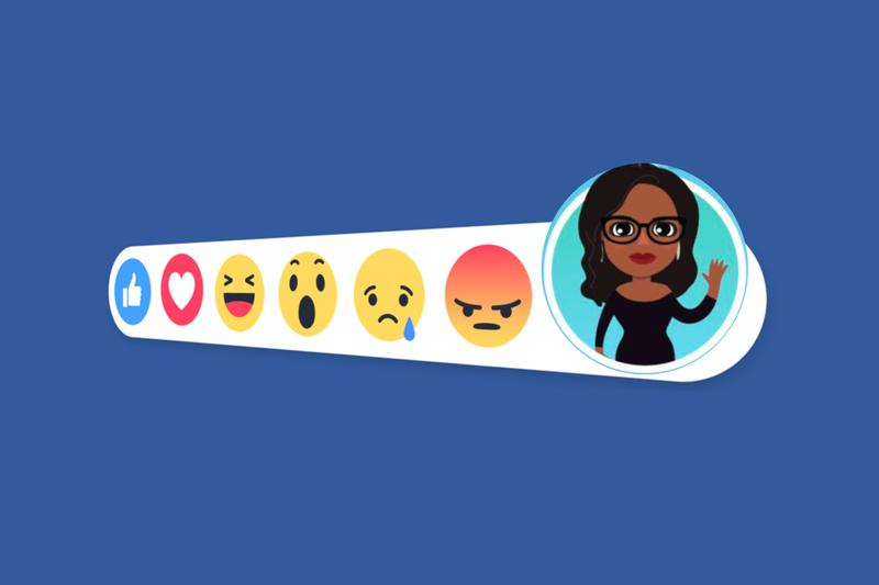 Facebook Avatars USA Launch snapchat Bitmoji competitor virtual custom emoticon persona info