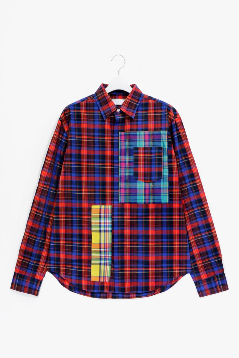 """FACETASM Pre-Fall 2020 """"Black Ivy"""" Collection Ivy League Style Stripes Greek Alphabet Rainbow Madras Collared Shirts Jackets Sweatpants T-shirts Dresses Chino Pants"""