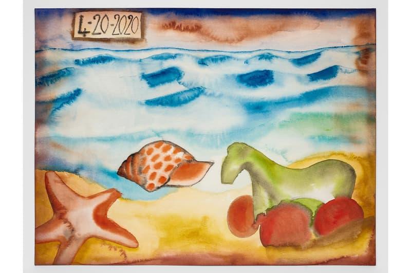 "Francesco Clemente ""Beauty Without Witness, April 2020"" Exhibit Lévy Gorvy Online Viewing Room New York Quarantine Paintings"
