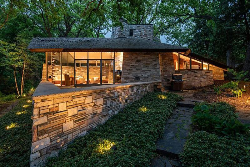 Frank Lloyd Wright Neils House up for Sale Sotheby's International Realty Architecture Minneapolis Cedar Lake 1949