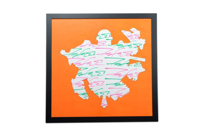 oallery framed futura artwork human made collaboration