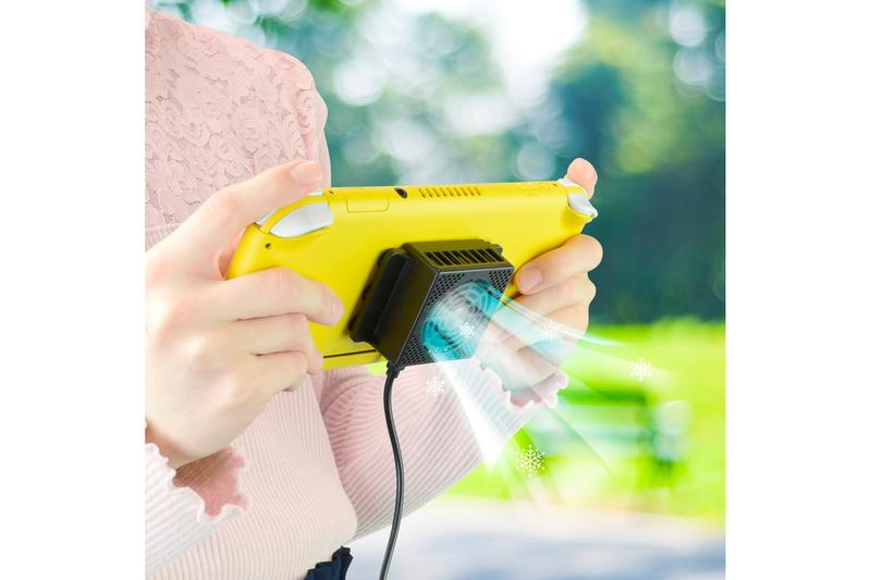 Gamers Mobile Cooler Nintendo Switch Overheating console iphone silent fan game tech japan hot summer devices 13 degrees celsius 55 degrees Fahrenheit usb import smartphones phones mobile