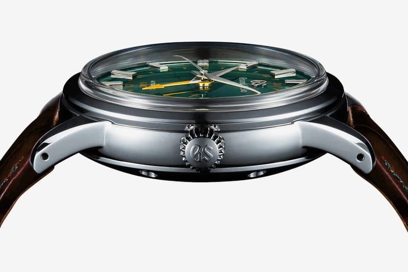 Grand Seiko Toge Edition British Racing Green watches of Switzerland exclusive Chief Designer Nobuhiro Kosugi Mount Iwate Japanese English heritage brown crocodile leather strap 72 hour power reserve
