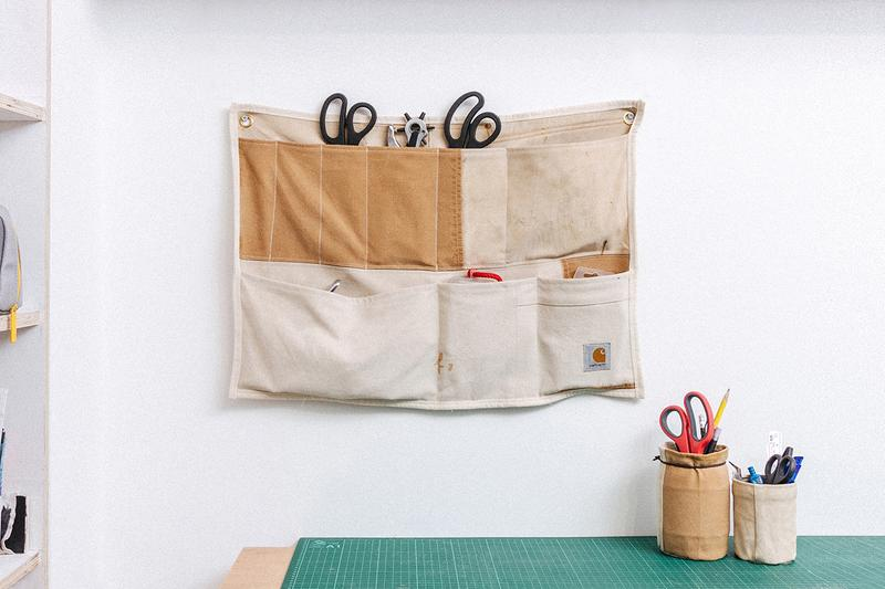 Greater goods london jaimus taylor wall organizers carhartt dungarees wip boiler suits workwear details buy cop purchase sustainability recycling upcycling