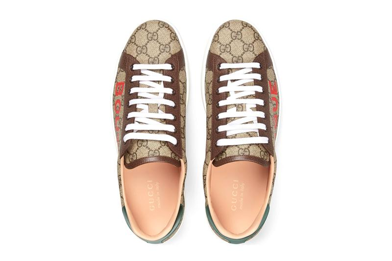 gucci gg ace boutique brown green red white ss20 official release date info photos price store list