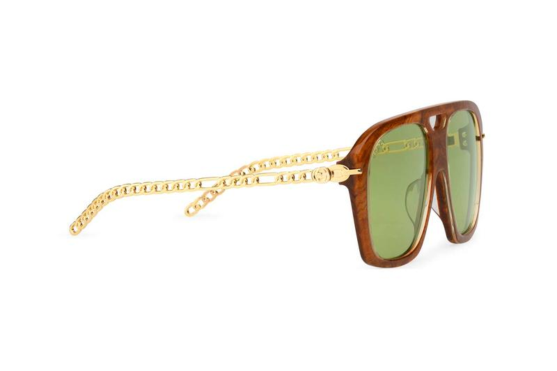 Gucci Square Sunglasses With Charms Release Info Buy Price Brown Black Acetate