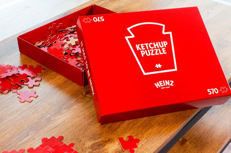Heinz Ketchup Red Puzzle Contest Announcement info 570 piece