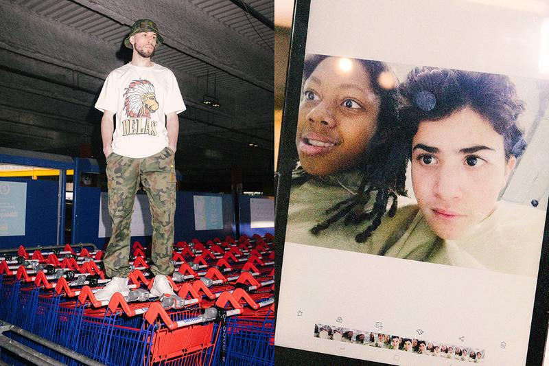 Hélas Spring 2020 Collection Lookbook Release Information Skateboarding Lucas Puig Stephen Khou Clement Brunel Parisian Mall Shoot Skateboarding T-Shirts Caps