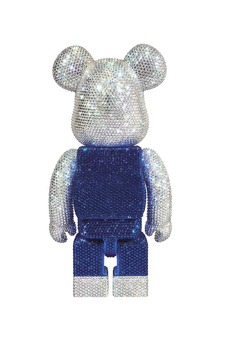 bearbrick hello kitty swarovski crystal 400 percent figure toys medicom toy bear brick toy crystals selfridges