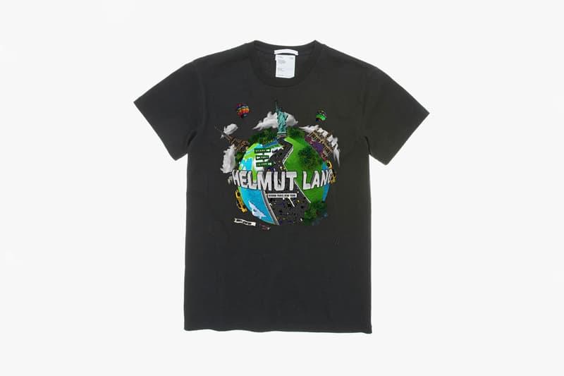 Helmut Lang Graphic T-Shirt Contest Finalists White Black Graphics Slug Pink Latex Gloves Globe Cowboy Telephone Smiley Face Car Horseshoe