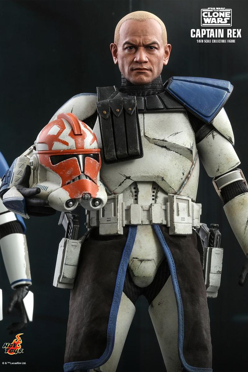hot toys star wars the clone wars captain rex 1 6th scale figure collectible ahsoka tano
