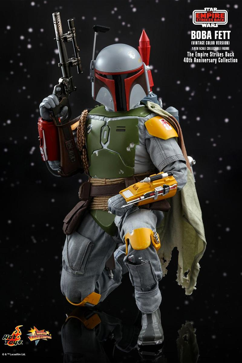 hot toys 1/6th scale figure collectible star wars empire strikes back 40th anniversary darth vader boba fett