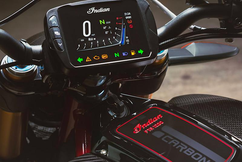 indian motorcyles bikes ftr 1200 s carbon fiber upgrade horsepower torque v twin engine