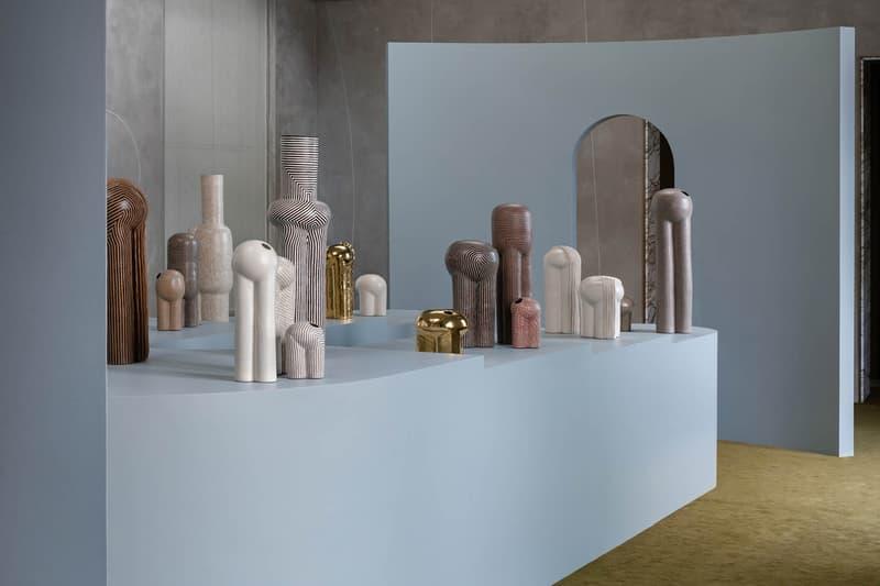 "Jeremy Anderson ""The Piccolo Parade"" Digital Exhibition Apparatus Studio Sculptures Ceramics Stoneware Gold Porcelain Vessels"