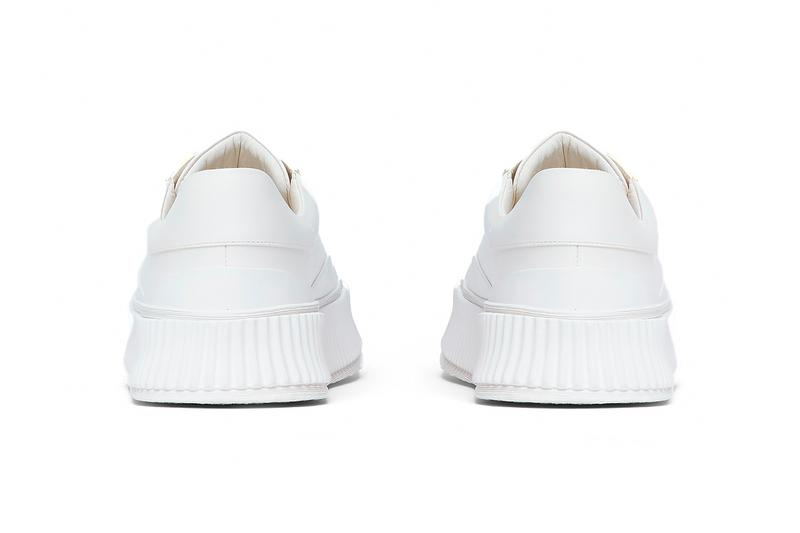jil sander ln-cc chunky sole sneakers white drops trainers white drop footwear kicks sneakers leather