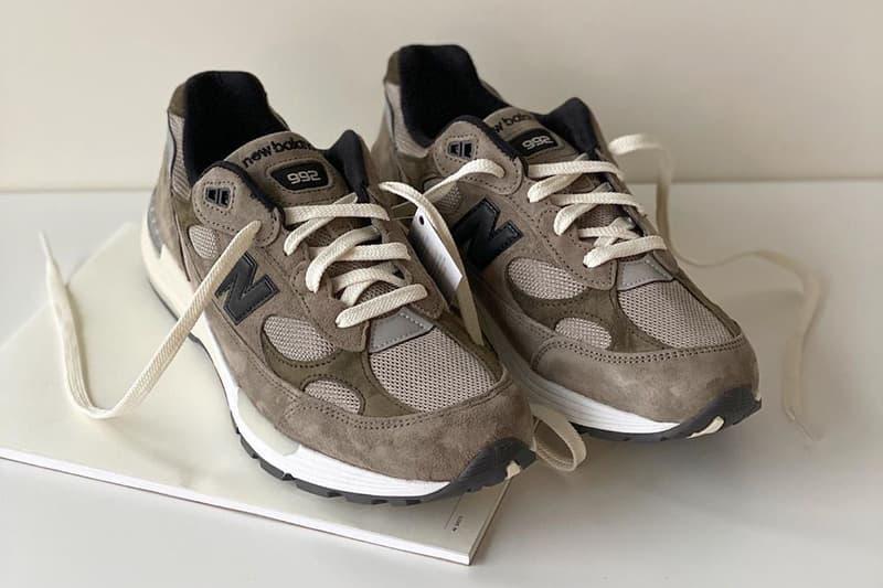 JJJJound x New Balance 992 News Justin Saunders Montreal trainers footwear kicks sneakers Canadian designer