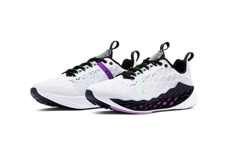 jordan brand zoom trunner advance white black vivid purple rage green official release date info photos price store list