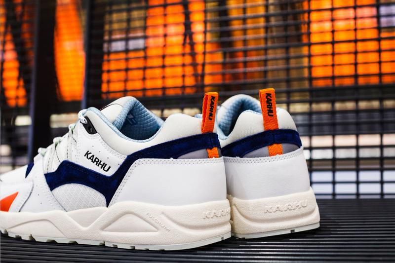 karhu fusion 2.0 sneakers helsinki finland metro pack drop info architecture white blue orange