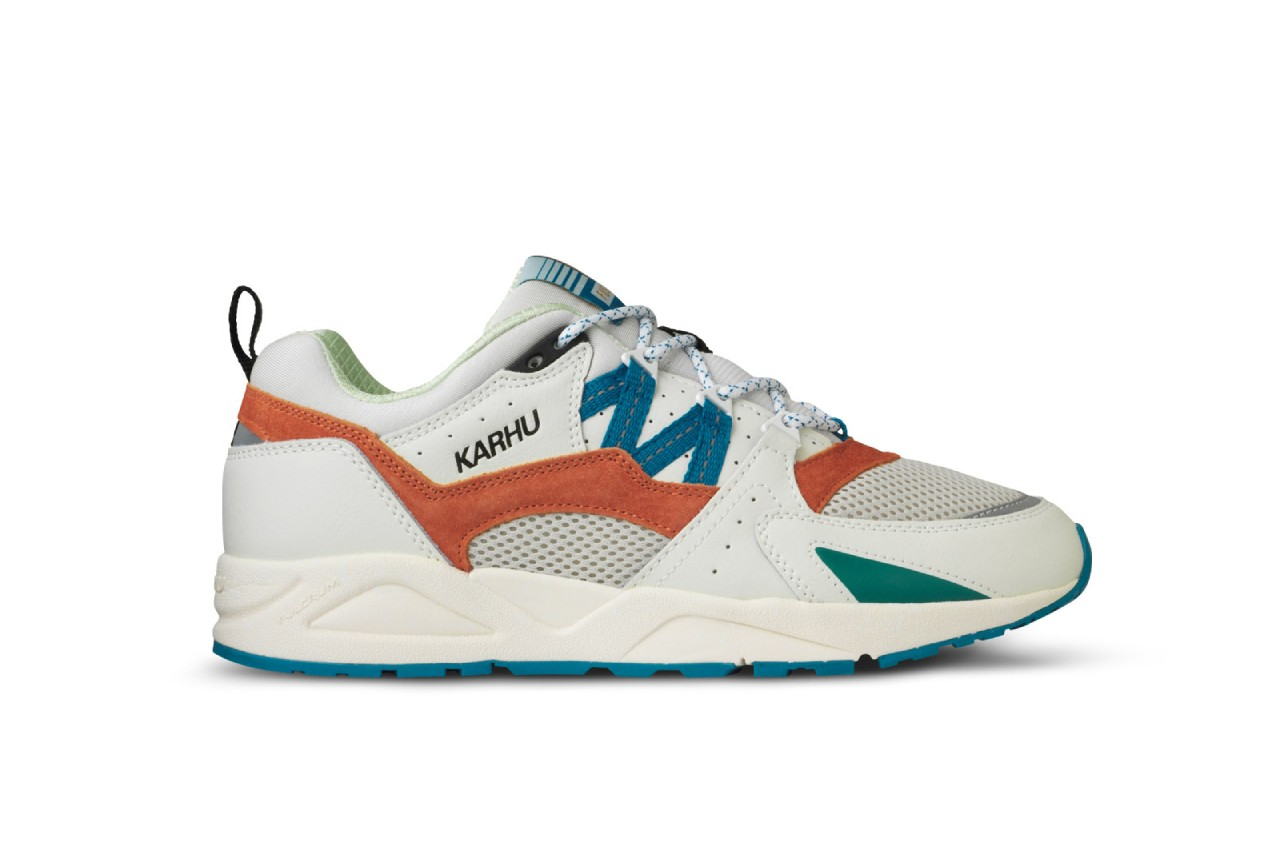 karhu fusion 2.0 sneakers helsinki finland metro pack drop info architecture white blue orange