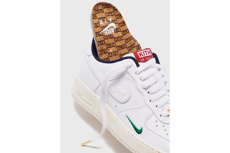 kith nike air force 1 low friends and family charity covid 19 coronavirus raffle info ronnie fieg whte blue red green release date info photos price store list