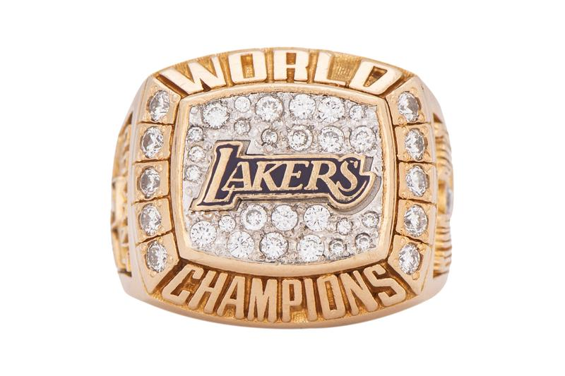 Kobe Bryant Lakers Championship Ring Sells For 206k Usd Hypebeast