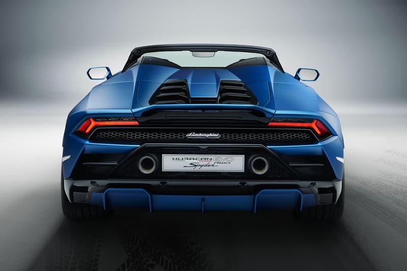 Lamborghini Huracán EVO RWD Spyder 2020 supercar roadster Italian engineering rear wheel drive naturally aspirated v10 610 horsepower