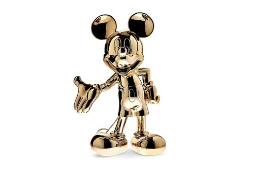 Leblon Delienne Crafts Gold Chrome-Clad Mickey Mouse Figures
