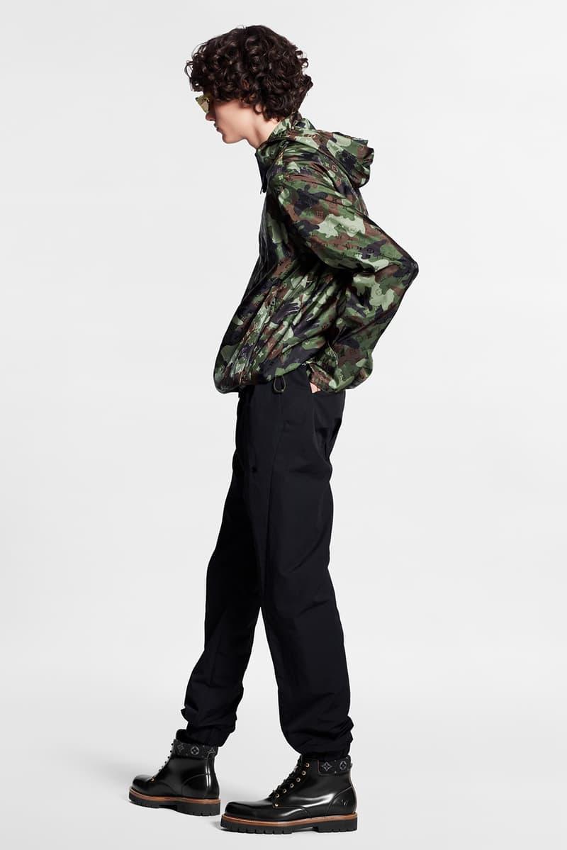 Louis Vuitton Pre-Collection FW20 Menswear Patterns foglia camouflage monogram camo autunno inverno 2020 borsa con stampa virgil abloh