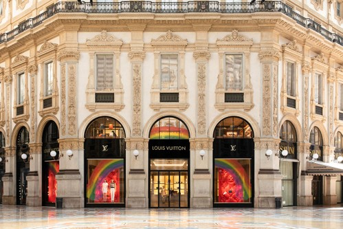 Louis Vuitton Store Windows Worldwide Get Vibrant Rainbow Designs