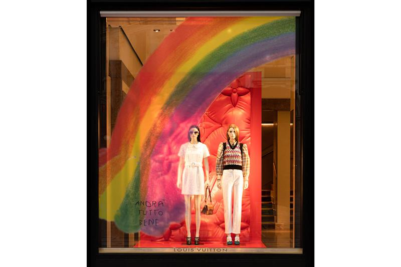 Louis Vuitton The Rainbow Project Window Designs Paris Madrid Rome Frankfurt Madrid Milan Rainbows Drawings Animations Local