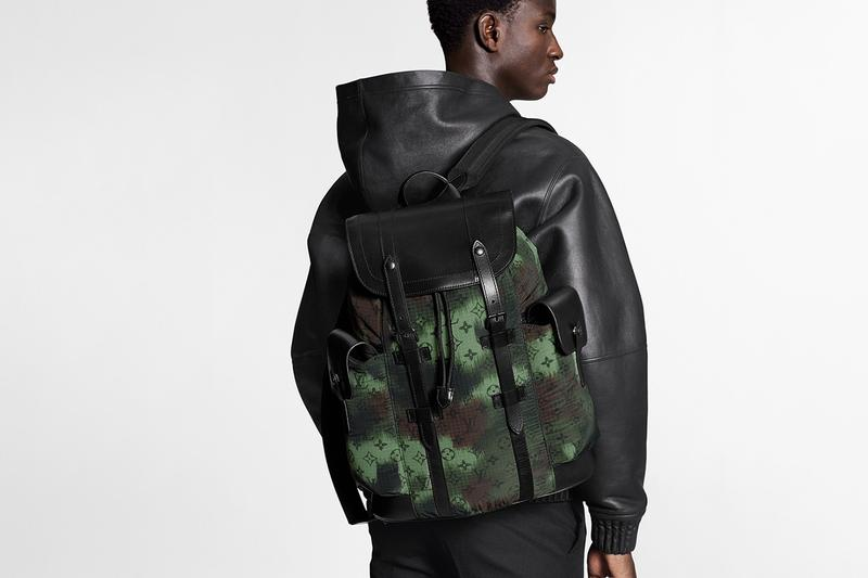 Louis Vuitton Camo Monogram Christopher backpack Soft Trunk Keepall Bags Virgil Abloh First Look Camo Print Design LV Olive Green Brown Black Nylon