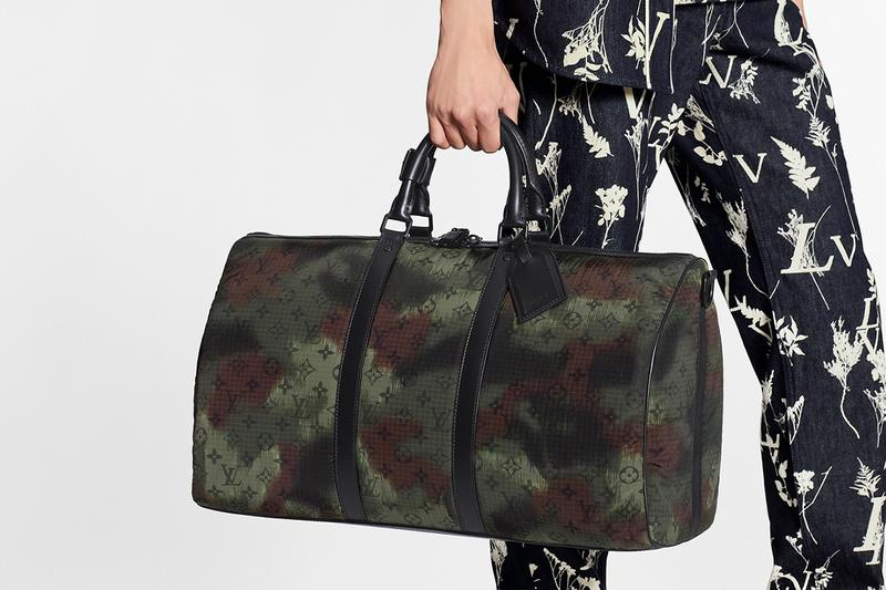 Louis Vuitton Camo Monogram Christopher zaino Soft Trunk Keepall Borse Virgil Abloh First Look Camo Print Design LV Verde oliva Marrone Nero Nylon