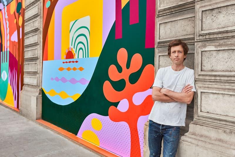 Luckylefthand Adorns Louis Vuitton Headquarters 'Nine Colours, Nine Eyes and Nine Hearts' Pont Neuf Paris Hands Rainbows Landscapes Hossegor