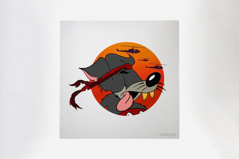 TEACH x Maharishi Artwork and T-Shirt Collection Prints Enamel Paintings Steel Tag Sculptures Year of the Rat Red Black White