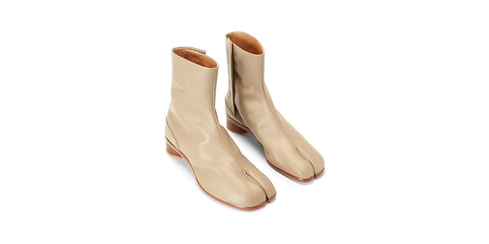 Maison Margiela Drops Luxurious Tabi Ankle Boot in Beige