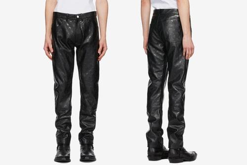 Marine Serre's Moon Pattern Dominates Its Black Regenerated Leather Pants