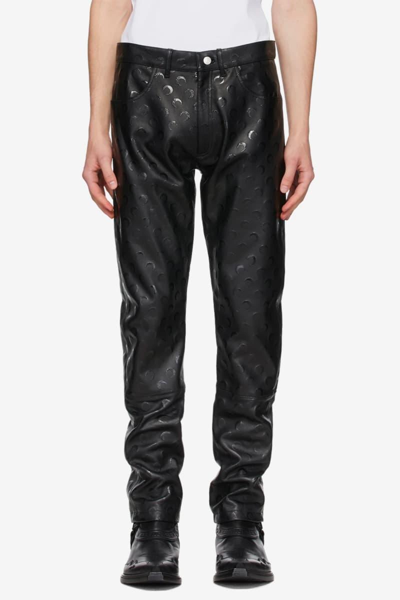 Marine Serre Black Regenerated Leather Pants Release Info Buy