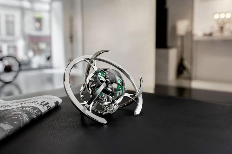 MB&F x L'Epée 1839 Starfleet Explorer Clock Release Info green red blue home interior goods industrial design timepiece