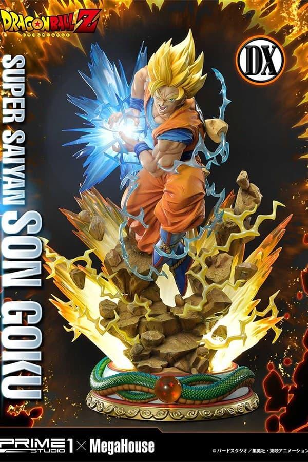 MegaHouse Prime 1 Studio Dragon Ball Z Goku Super Saiyan Statue 1 2 3 SSJ DBZ