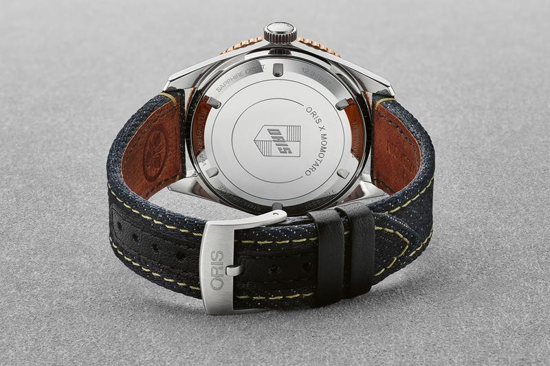momotaro japanese premium denim oris swiss luxury watches accessories divers sixty five special edition