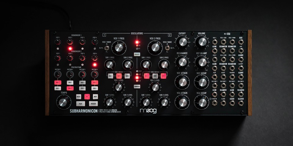 Moog Announces the Subharmonicon, a Semi-Modular Analog Polyrhythmic Synthesizer