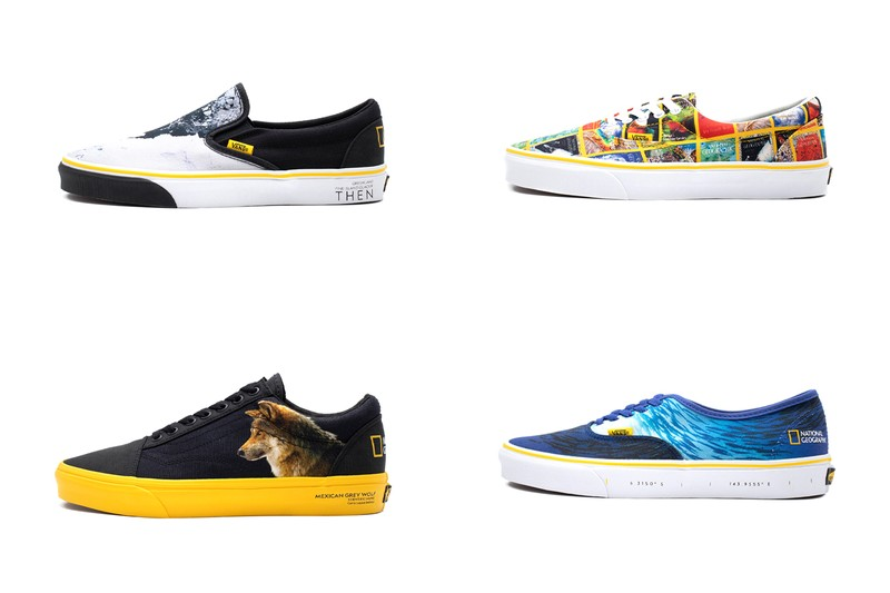 'National Geographic' Graces Iconic Vans Sneakers With Nature, Wildlife and More