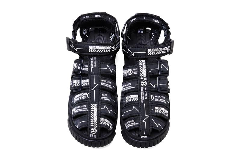 neighborhood shaka hiker sandals black olive drab white release date info photos price